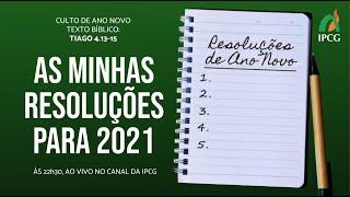 CULTO DE ANO NOVO- 31/12/2020