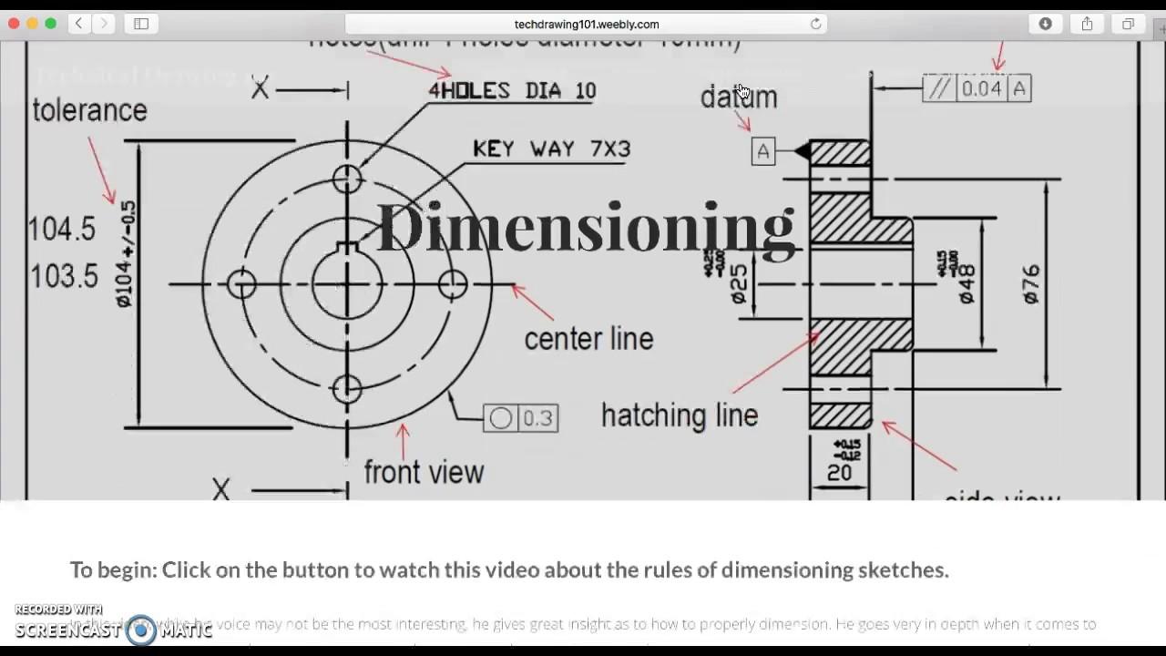Technical Drawing Website Walkthrough - YouTube