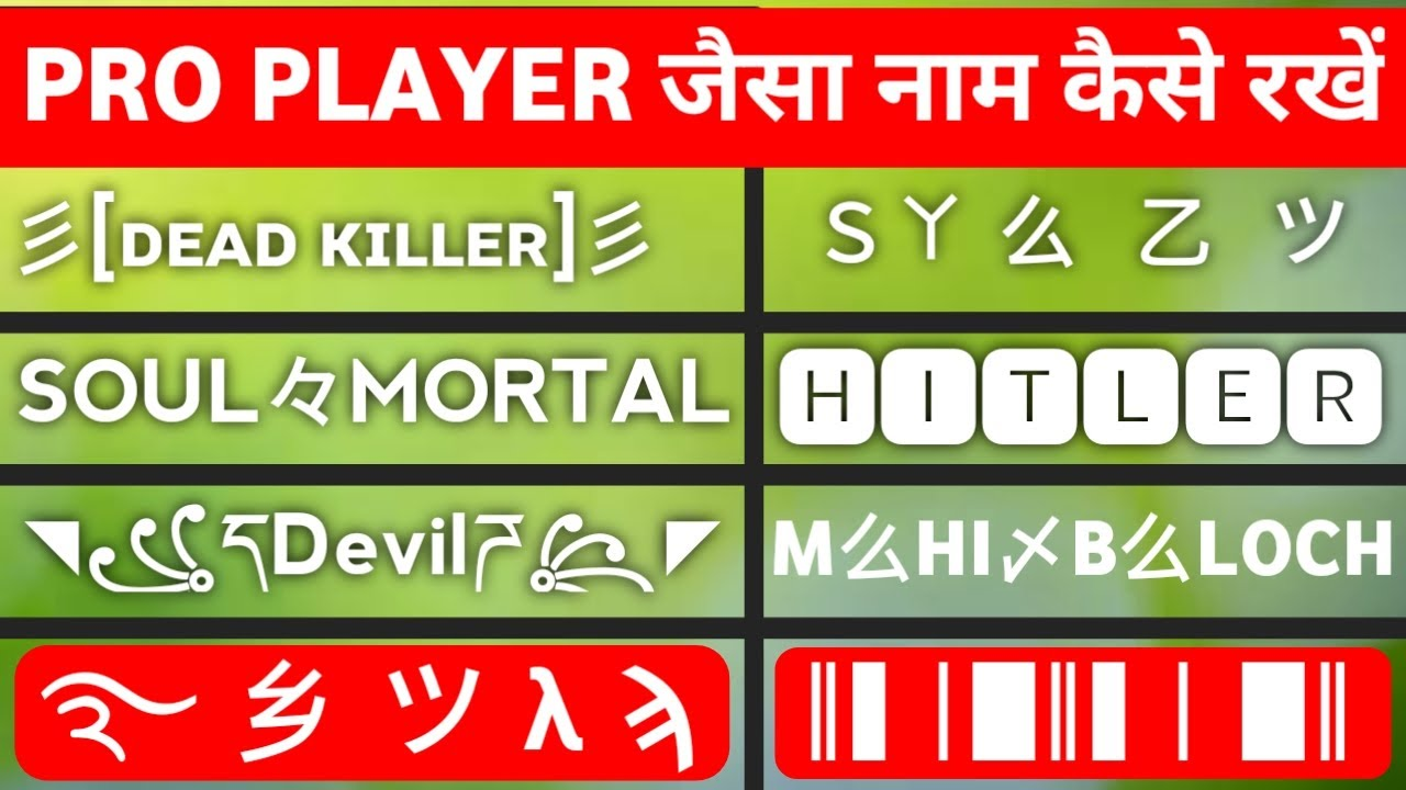 Download How To Change Name In Pubg Mobile Like Pro Player With Stylish Symboles And Fonts In Hindi 2020