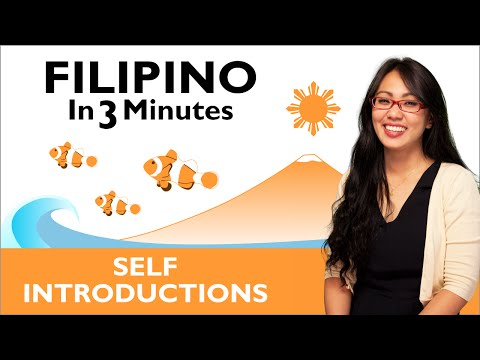 Learn Filipino - Filipino in Three Minutes - How to Introduce Yourself in Filipino
