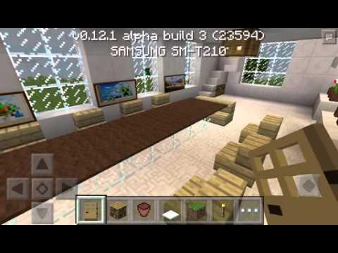 Casa Moderna Para Minecraft Pocket Edition Youtube