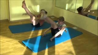 Детская йога Стрейчинг.Пресс и растяжка..wmv