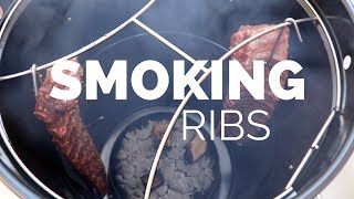 Ribs on the Barrel House BBQ Cooker