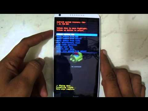 Hard Reset And Pattern Lock HTC Desire 816G Eazy Youtube