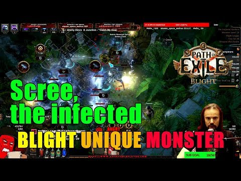 Path of Exile Blight: SCREE, THE INFECTED! First Unique