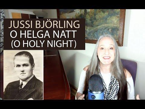 Voice Teacher Reaction to Opera Singer - Jussi Björling    O Holy Night (O Helga Natt)