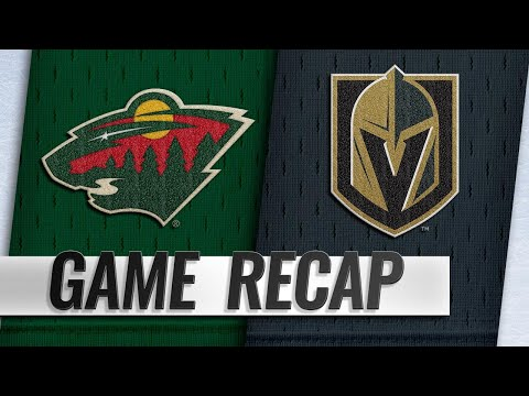 Coyle's goal helps lift Wild past Golden Knights