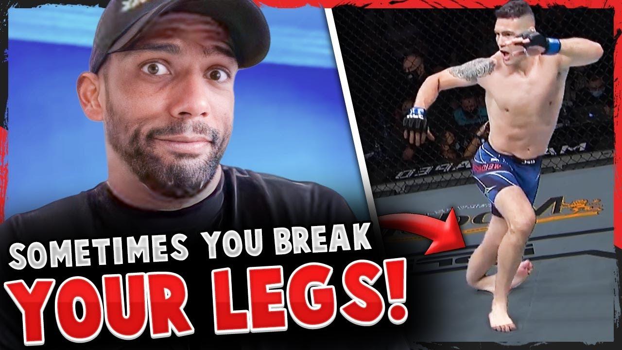 "Edson Barboza on Weidman's leg break: ""It's part of the job!"""