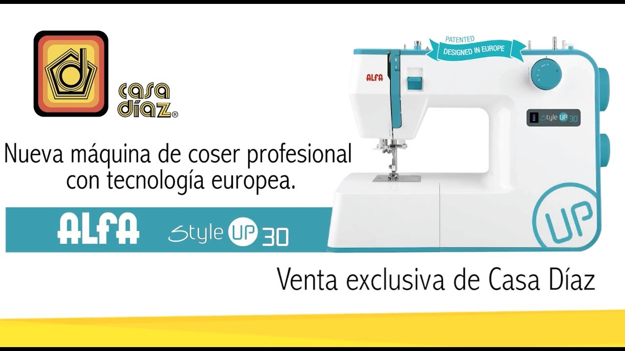 Máquina de coser Alfa Style Up 30 - YouTube