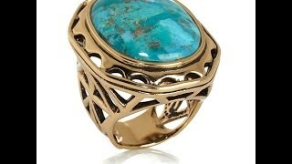 "Studio Barse ""Windsor"" Bold Turquoise Bronze Ring"