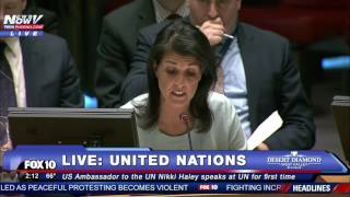 HISTORIC: Nikki Haley's First Time Speaking at United Nations as US Ambassador (FNN)