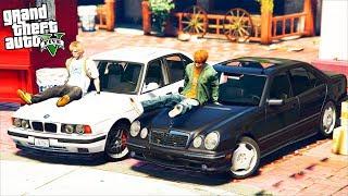 РЕАЛЬНАЯ ЖИЗНЬ В GTA 5 - КУПИЛИ MERCEDES E55 И BMW M5! ШАШКИ ПО ТРАССЕ! 🌊ВОТЕР