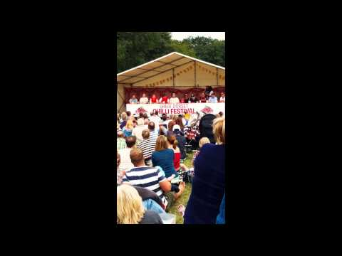 Chilli eating competition at The Great Dorset Chilli Festival 2015