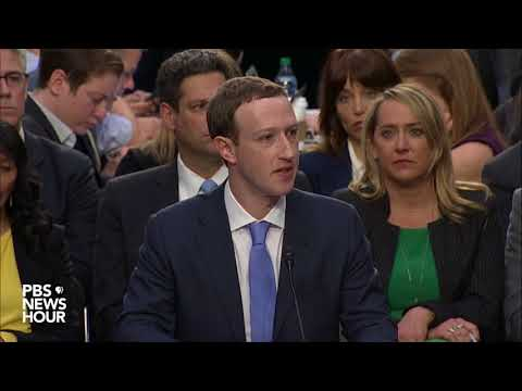 Facebook CEO Mark Zuckerberg's opening statement