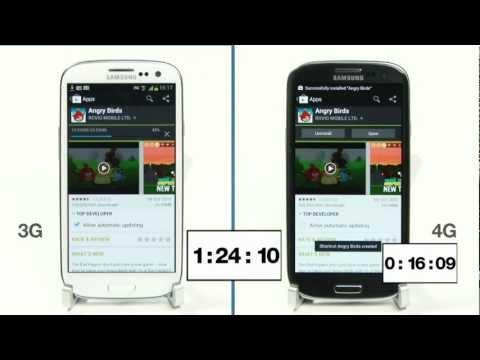 4G Speed Test vs 3G on Samsung Galaxy S3 on EE UK