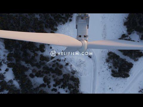 6732. Vindkraftverk (Wind Turbine) Drone Stock Footage Video
