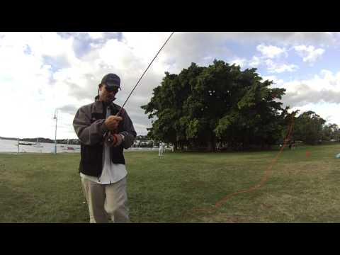 Todd Young - Young Guns Fishing Adventures - Casting demonstration