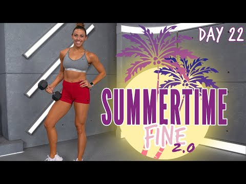 45 Minute Full Body Bootcamp Workout | Summertime Fine 2.0 - Day 22