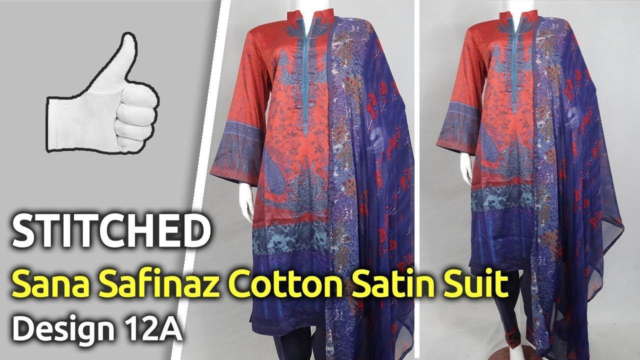 [VIDEO] - Latest StylishSANA SAFINAZWinter Collection 2019   Pakistani Stitched Winter Suits   Design 12a 1