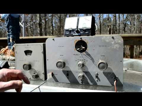 Demonstration of the Heathkit AT-1 transmitter and VF-1 VFO