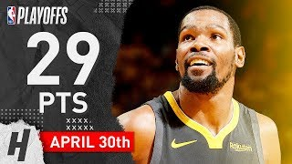 Kevin Durant Full WCSF Game 2 Highlights vs Rockets 2019 NBA Playoffs - 29 Points!