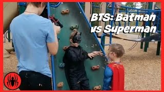 BTS: Batman v Superman Superheroes battle in real life movie | SuperHero Kids BTS 4