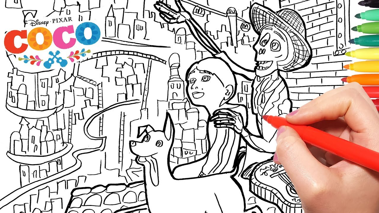 - Disney Coco Coloring Pages 2How To Color Coco Dante Hector And