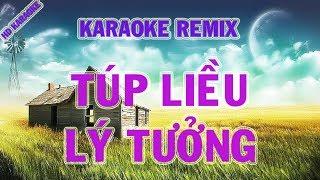 Karaoke remix ║ Túp lều lý tưởng - song ca ║ Karaoke midi 🎤