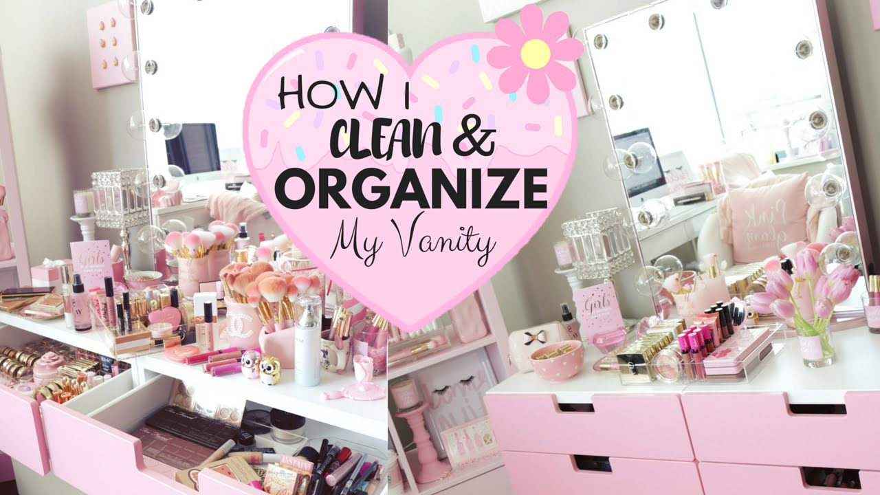 How I Clean And Organize My Makeup Vanity Slmissglam