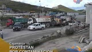Cajamarca: Pobladores de Hualgayoc protestan contra minera Gold Fields