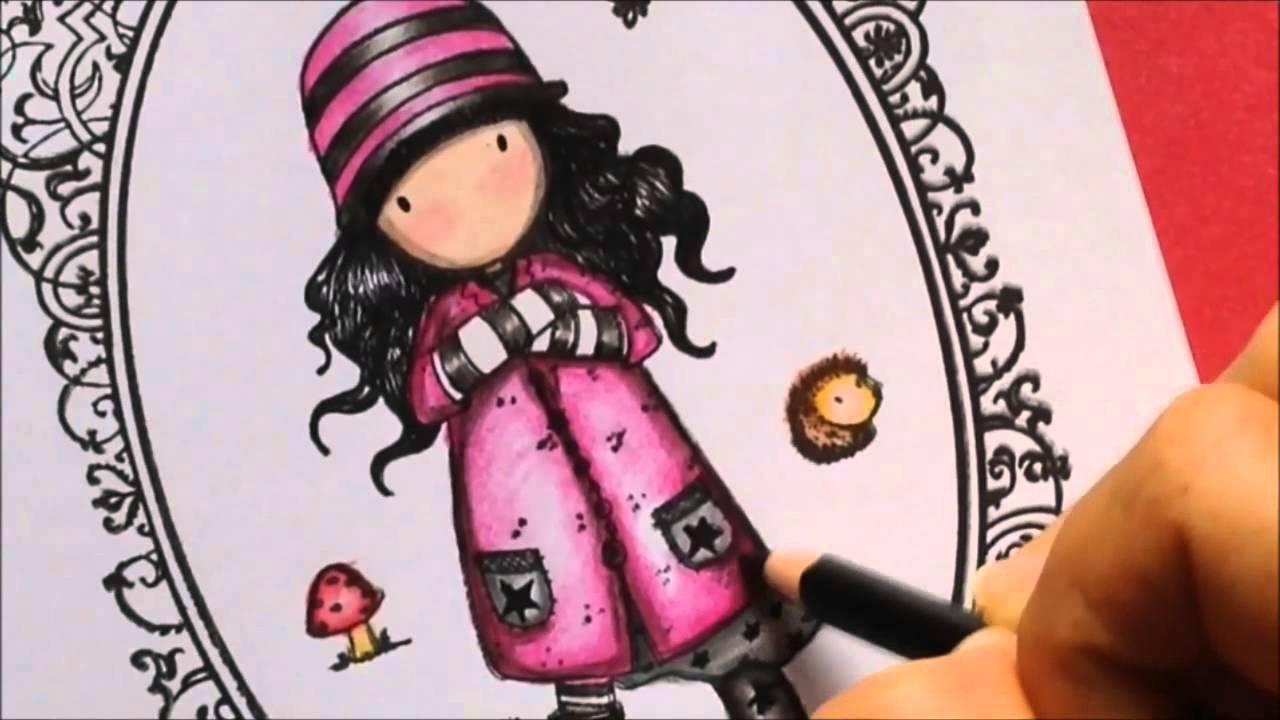 Dibujos De Gorjuss Santoro Para Colorear E Imprimir Gratis: Coloring Gorjuss Stamps