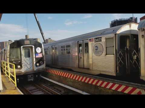 BMT Jamaica Line: J & M Train Action via express to Manhattan @ Flushing Av (6/10/17)