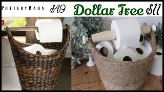 Dollar Tree Toilet Paper Storage | Pottery Barn Dupe