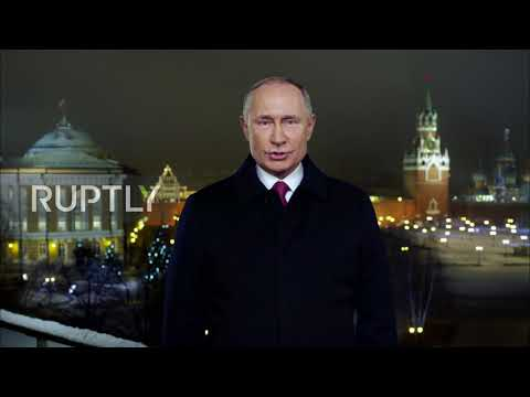 """Russia: Putin sends New Year""""s wishes from Moscow"""
