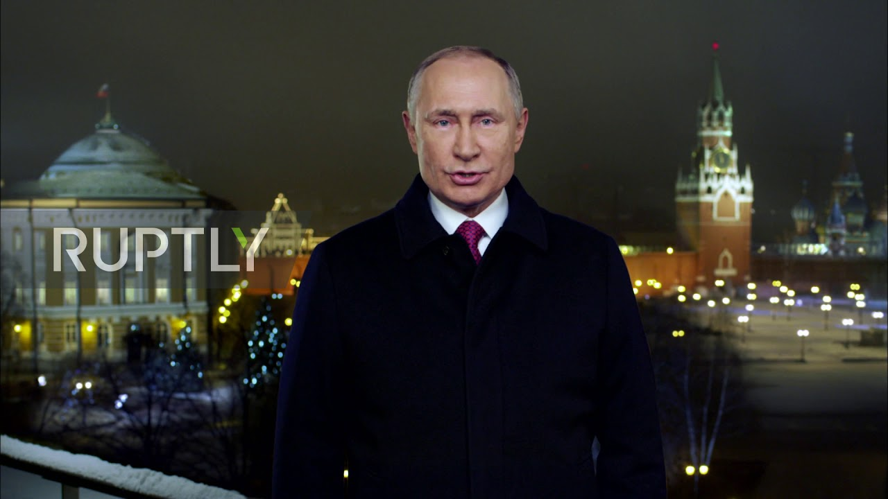 Russia Putin Sends New Year S Wishes From Moscow Youtube