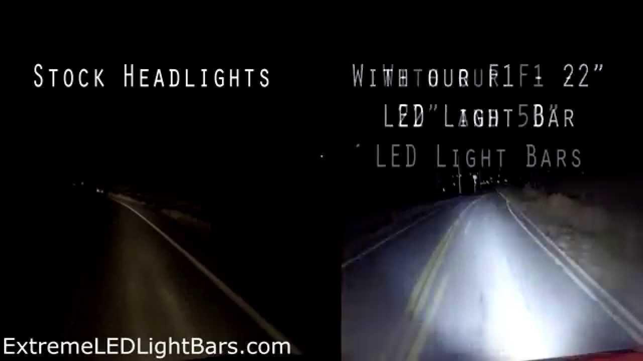 LED Light Bars vs Stock Headlights at Night Demonstration & LED Light Bars vs Stock Headlights at Night Demonstration - YouTube azcodes.com