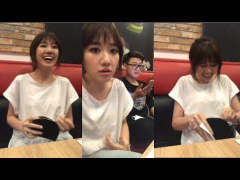 Hari Won dẫn ê kíp đi ăn tối đến lúc tính tiền Hari Won há hốc ngạc nhiên