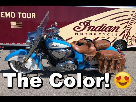 2018 Indian Chief Vintage Review - Test Ride   Rider DROPS BIKE!