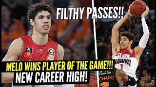 LaMelo Ball NEW NBL CAREER HIGH!!! He Won Player of the Game With Some FILTHY Passes!