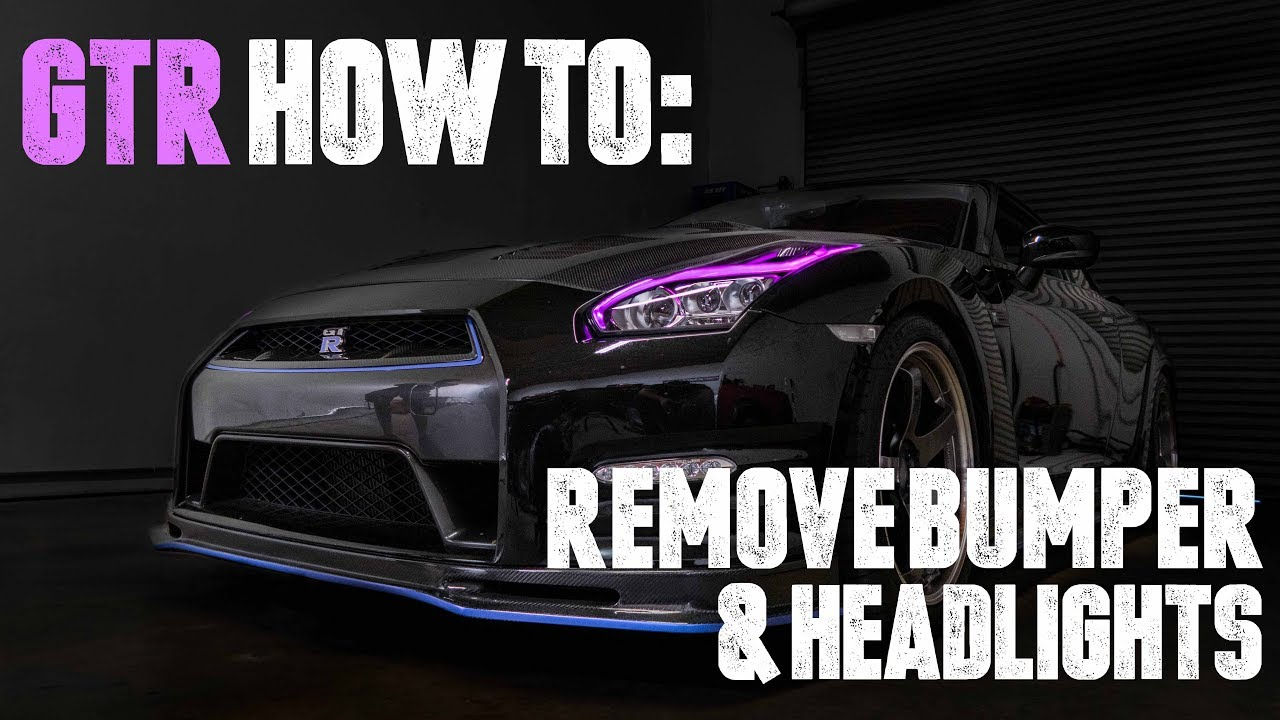 nissan gtr how to remove bumper and headlights [ 1280 x 720 Pixel ]