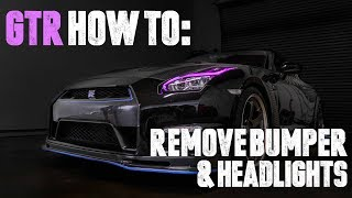 Nissan GTR - How To Remove Bumper and Headlights