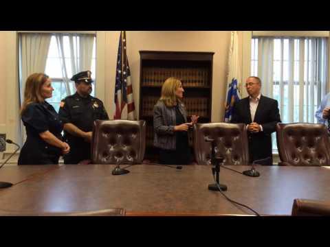 Lt. Gov. Karyn Polito visits Ludlow Town Hall