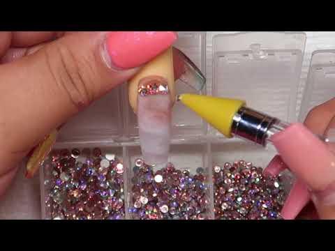 Smokey white marble nail tutorial