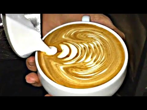 Most Satisfying Coffee Free Pour Compilation On YouTube! - MUST SEE Latte Art !