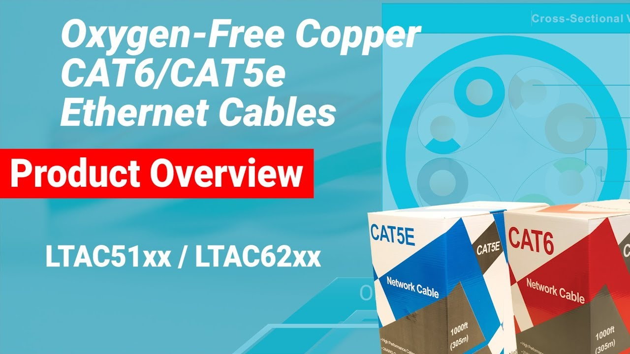 Product Overview Oxygen Free Copper Cat5e Cat6 Ethernet Cables Wiring