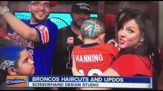 Live Haircuts from Channel 7 Super Bowl on KUHS