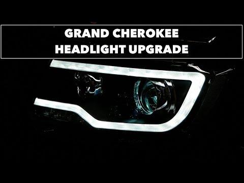 2011 Grand Cherokee // LED DRL Headlight Upgrade