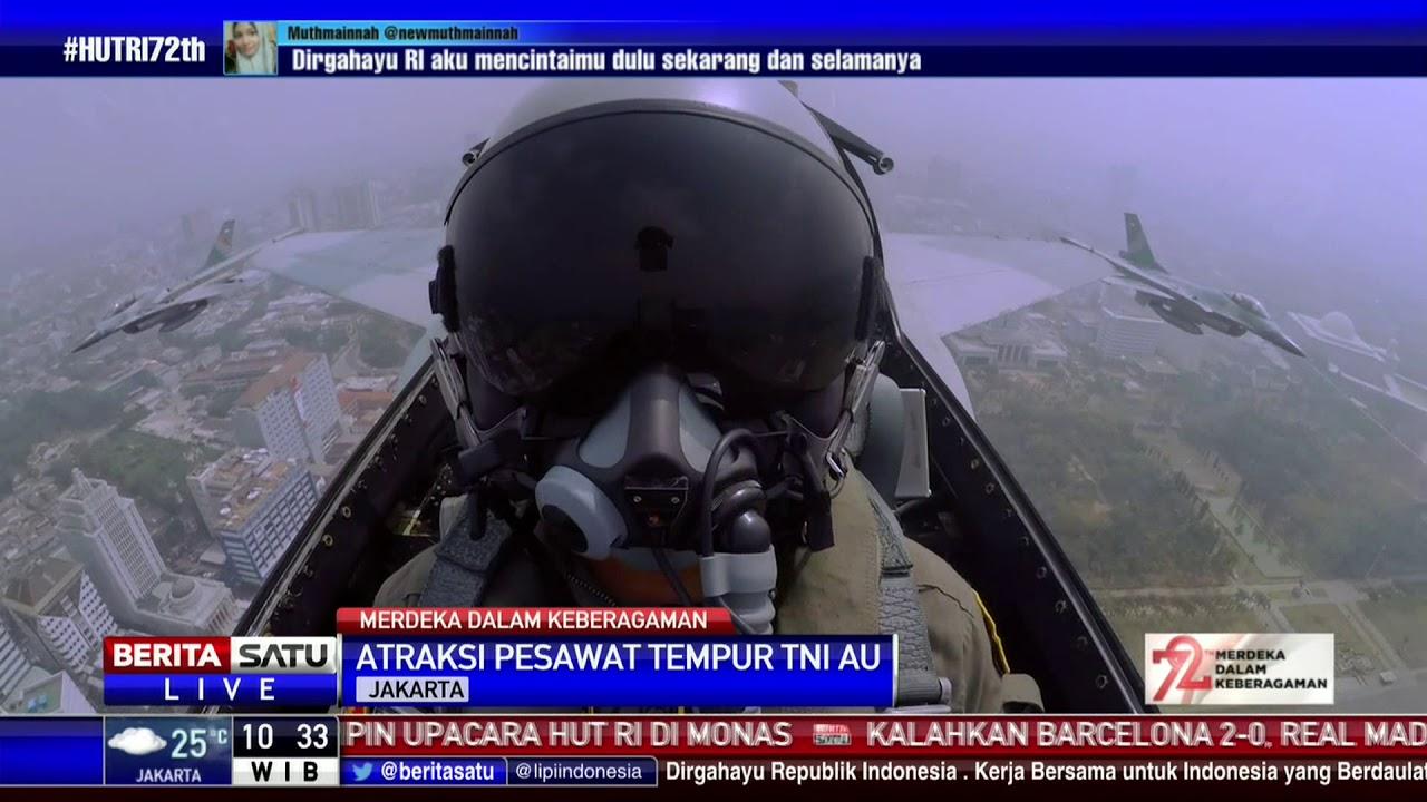 Atraksi Pesawat Tempur TNI AU Di HUT Ke 72 RI YouTube