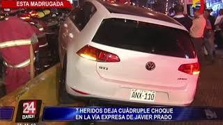 Vía Expresa: cuádruple choque deja siete heridos