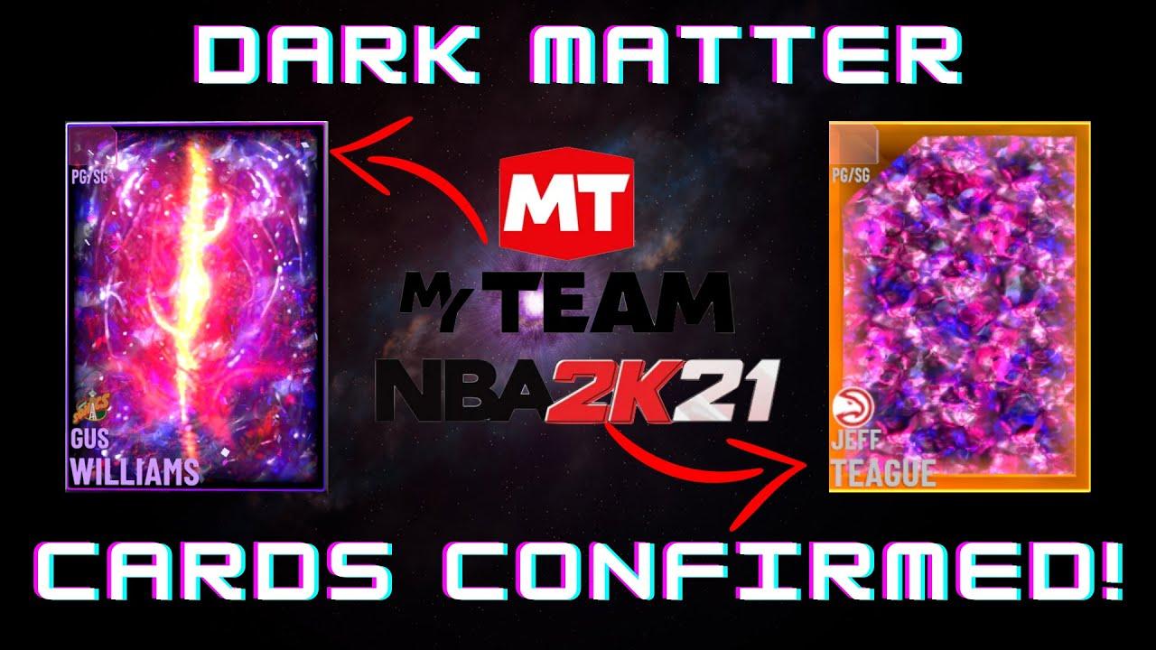 DARK MATTER CARDS ARE CONFIRMED IN NBA 2K MYTEAM!! - YouTube